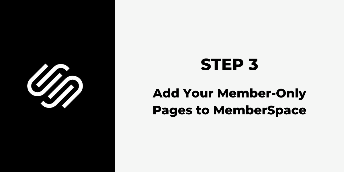 Squarespace Membership Site - Step 3