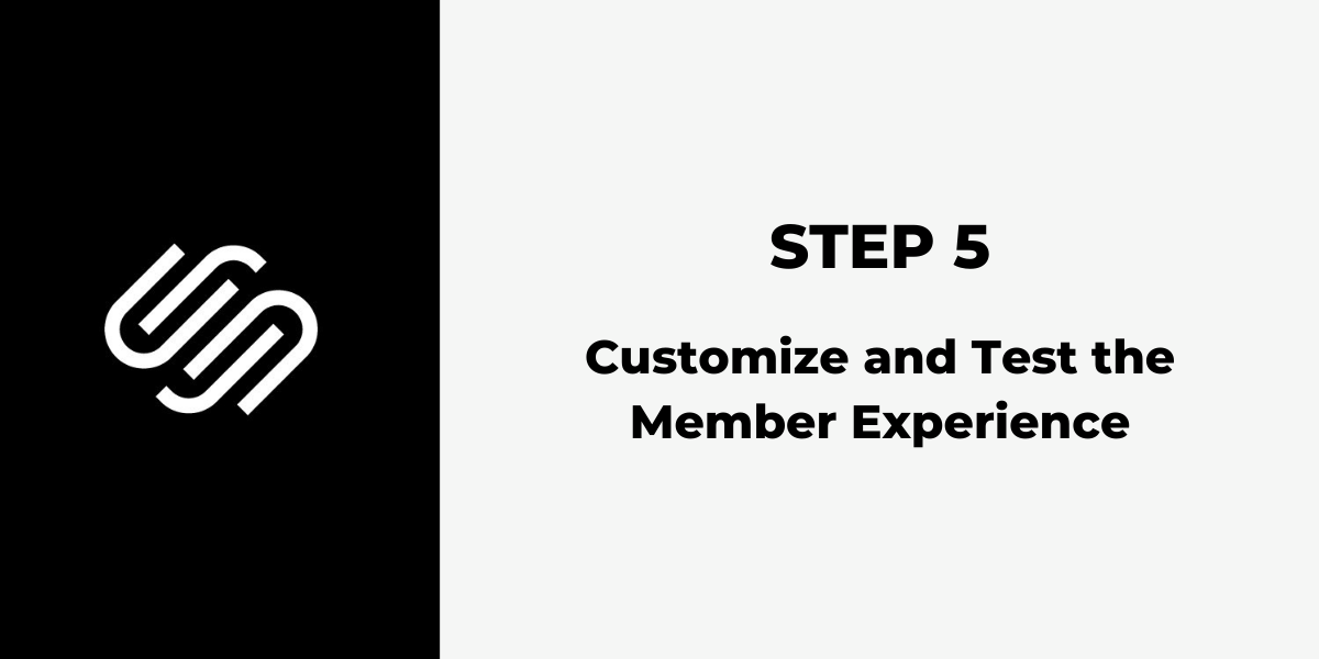 Squarespace Membership Site - Step 5